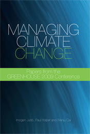 The cover image of Managing Climate Change, featuring a slightly textured