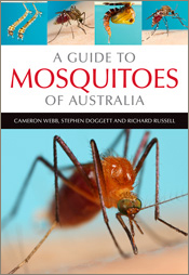 Cover featuring a large close-up image of a mosquito and four smaller imag