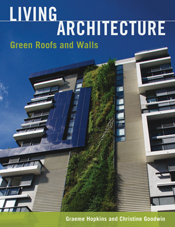The cover image of Living Architecture, featuring a side view of a multi-s