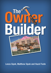 The cover image of The Owner Builder, featuring a picture of a house under