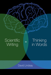 The cover image of Scientific Writing = Thinking in Words, featuring a bra
