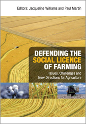 The cover image of Defending the Social Licence of Farming, featuring an a