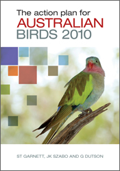 The cover image of Action Plan for Australian Birds 2010, features a brigh