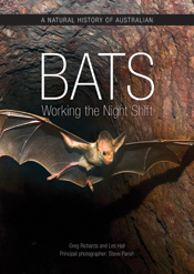 The cover image of Natural History of Australian Bats, features a bat with