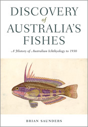 The cover image of Discovery of Australia's Fishes, featuring an illustrat