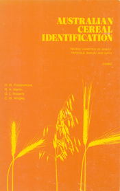 The cover of Australian Cereal Identification, features the yellow outline