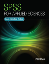 The cover image of SPSS for Applied Sciences, features a digitally created