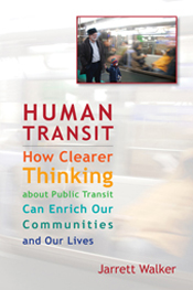 Cover features a smaller picture of people in transit against a larger fad