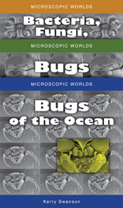 Image of Microscopic Worlds Set, features thee three images of the Microsc