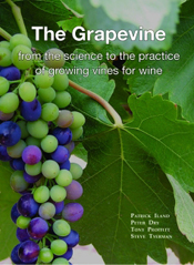 Cover features a bunch of purple and green grapes against large green grap