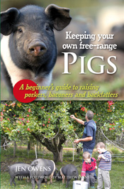 Cover is two images of pigs, one close up, the other with people.
