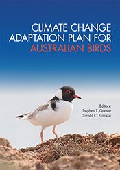 Cover image featuring a white bodied bird with a black head and a bright r