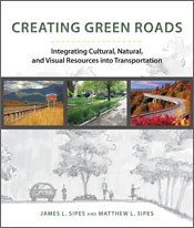 Cover image is three images of roads through brightly coloured red, yellow