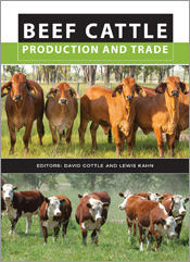 The cover image of Beef Cattle Production and Trade, featuring two photogr
