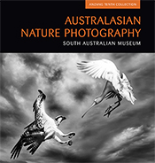 Cover image of Australasian Nature Photography, featuring a black and whit