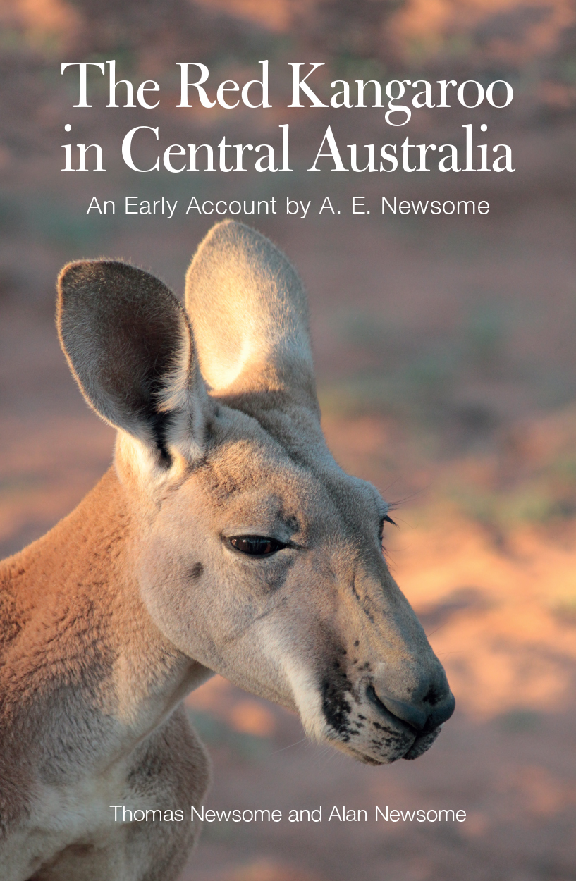 Cover image featuring a close-up photograph of the face of a red kangaroo