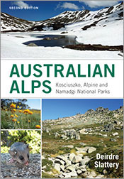 Cover featuring images of snow-covered alps with a lake, flowers, a mounta