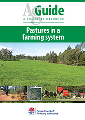Cover image of Pastures in a Farming System, featuring a large pasture ima