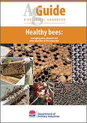 Cover image of Healthy Bees, featuring a compilation of six photos of hone