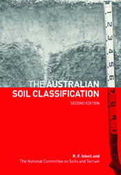 Cover image, featuring a black and white image of a part of a soil profile