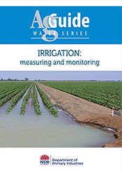 Cover features a photograph of an irrigated crop.