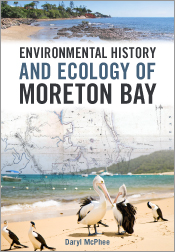 Cover featuring a compilation of photos of the bay with an old map of the