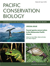 Cover of Pacific Conservation Biology