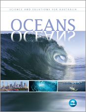 Cover of Oceans, featuring a main image of a wave above thumbnail images o
