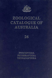 The cover image of Zoological Catalogue of Australia Volume 26, featuring
